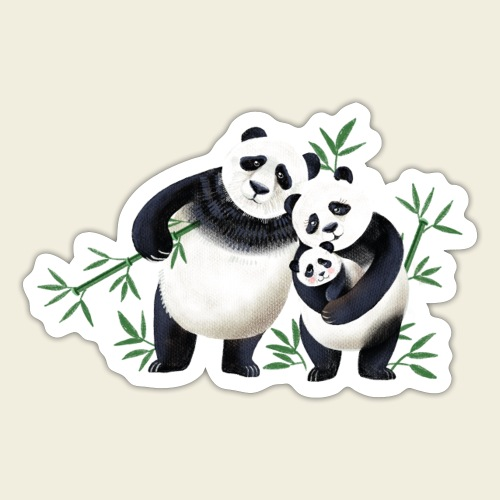 Pandafamilie Baby - Sticker