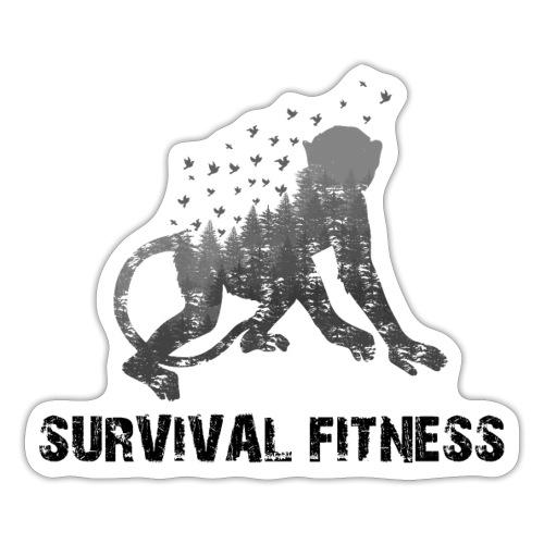 Survival Fitness Logo Schwarz - Sticker