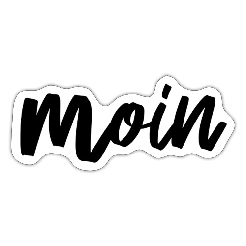 moin black - Sticker