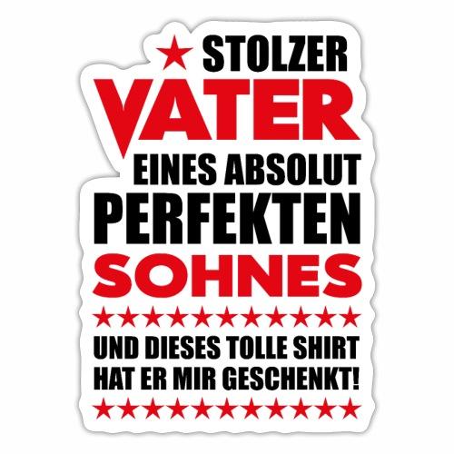 09 Stolzer Vater Perfekten Sohnes Stern - Sticker