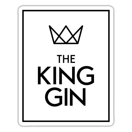 The King Gin Logo schwarz RGB Rahmen - Sticker