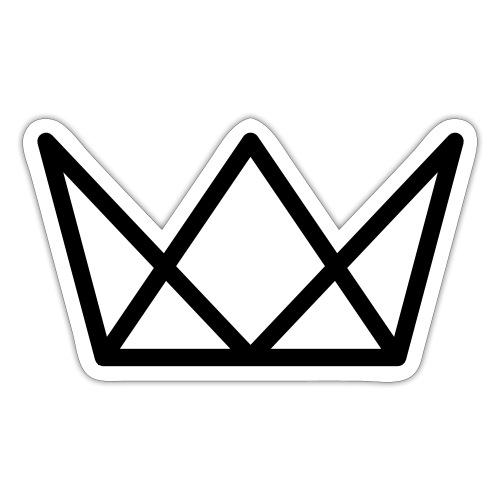 TKG Krone schwarz CMYK - Sticker
