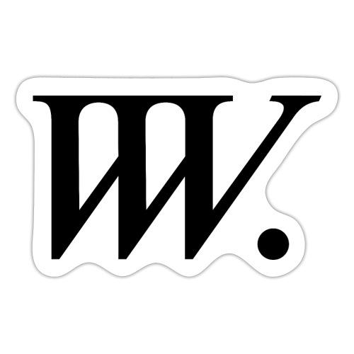 VVV logotyp svart 1500 - Klistermärke