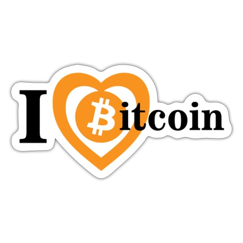I love bitcoin big - Klistermärke