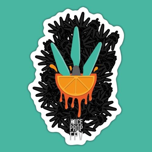 JuicePropFPV LOGO Pile Black - Sticker