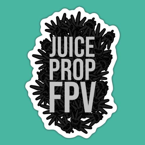 JuicePropFPV LOGO Pile TEXT Black - Sticker