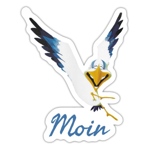Moin Lachmöwe - Sticker