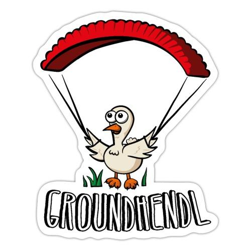 Groundhendl Paragliding Huhn - Sticker
