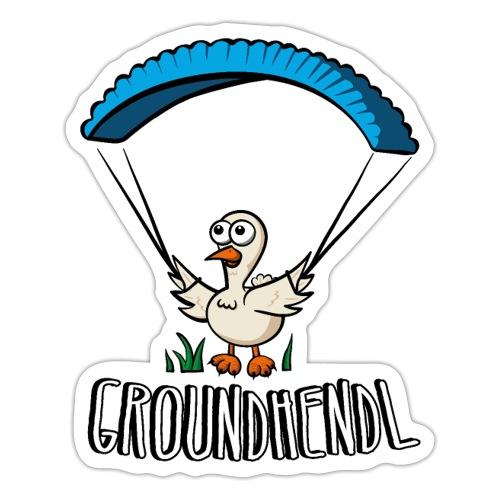 Groundhendl Groundhandling Hendl Paragliding Huhn - Sticker