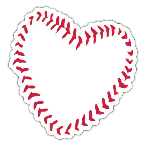 2581172 1029128891 Baseball Heart Of Seams - Sticker