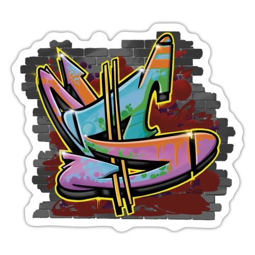 S Graffiti Wall - Sticker