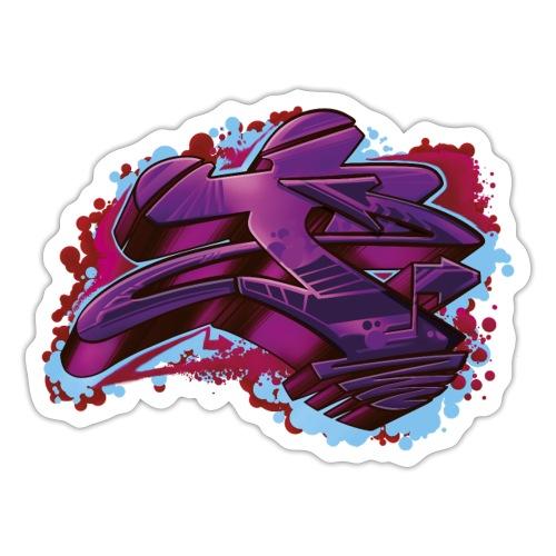 T Style graffiti letters - Sticker
