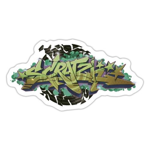 Scratch Graffiti Style - Sticker