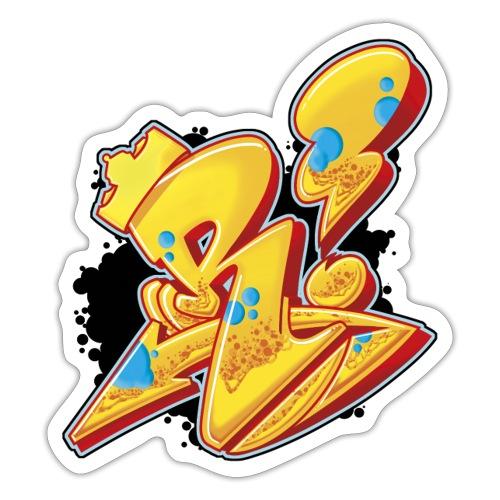 r is king single letter rust pod y - Sticker