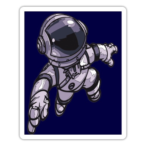 Leaping Astronaut on Blue - Sticker