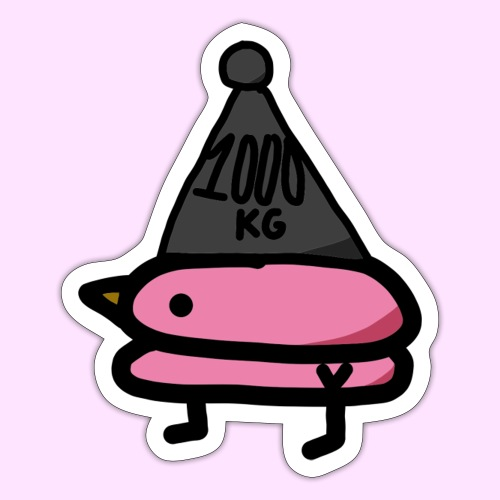 Squished Pinkguin - Sticker