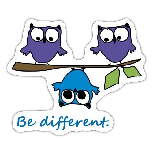 Vogel auf Ast - Be different - Sticker