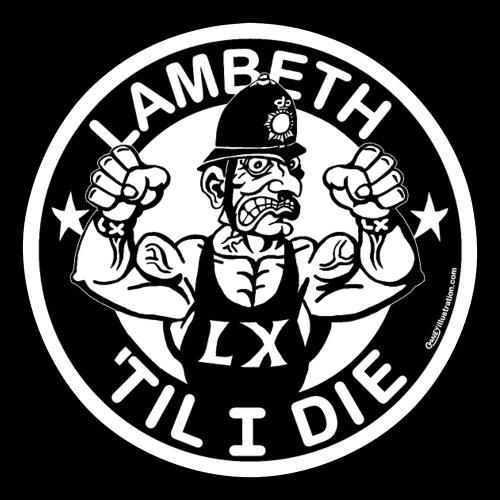 LAMBETH - BLACK - Sticker