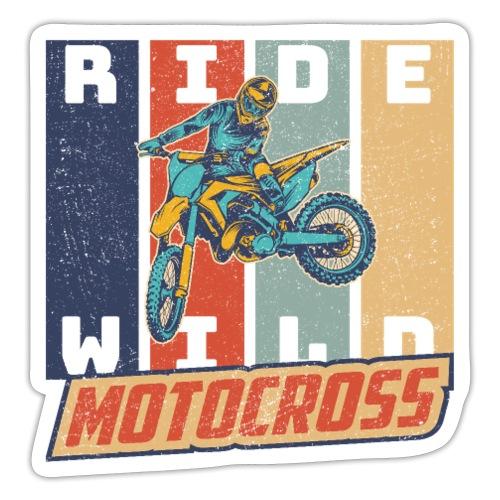 Motocross Ride Wild Vintage Enduro Geschenk - Sticker