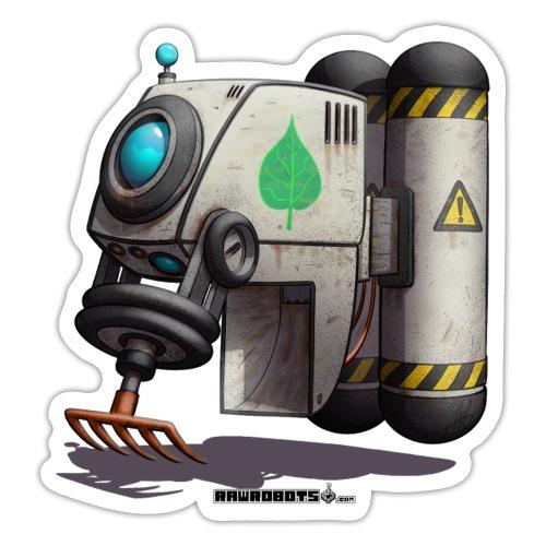 The L.E.A.F. Robot! (Leaf Eco Automated Friend). - Sticker