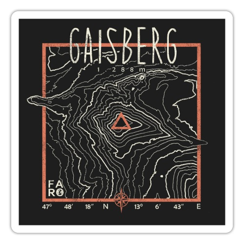 Gaisberg Contour Lines - Pitch Black - Sticker