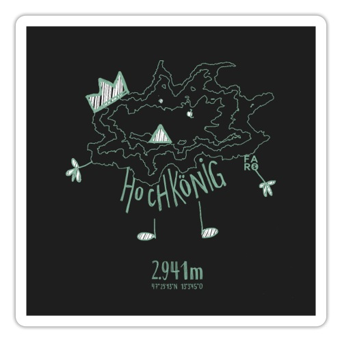 The Hochkoenig Monster - Pitch Black - Sticker