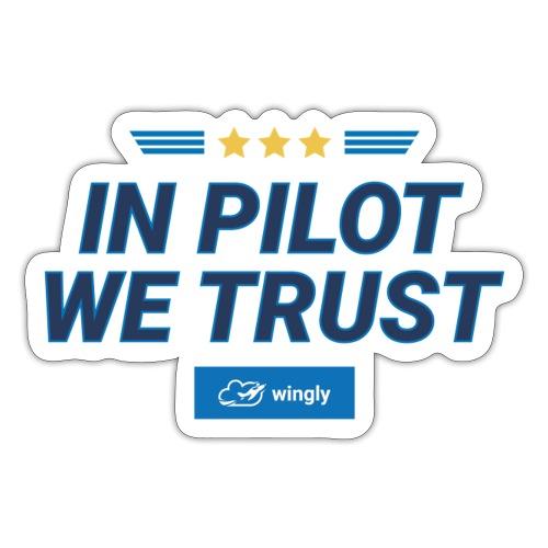 In pilot we trust - Sticker