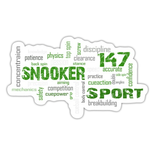snooker word cloud - Sticker