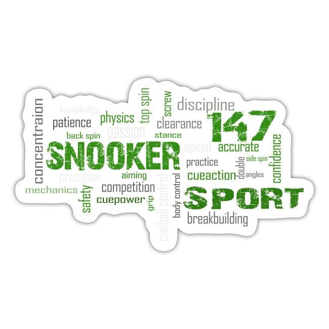 snooker word cloud