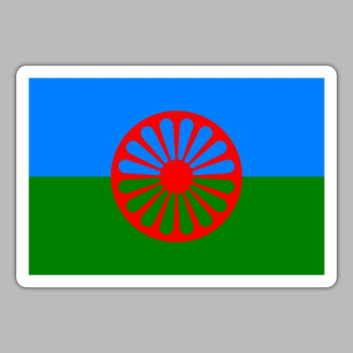 Flag of the Romani people - Klistermärke