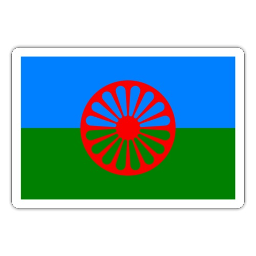 Flag of the Romani people - Klistermärke