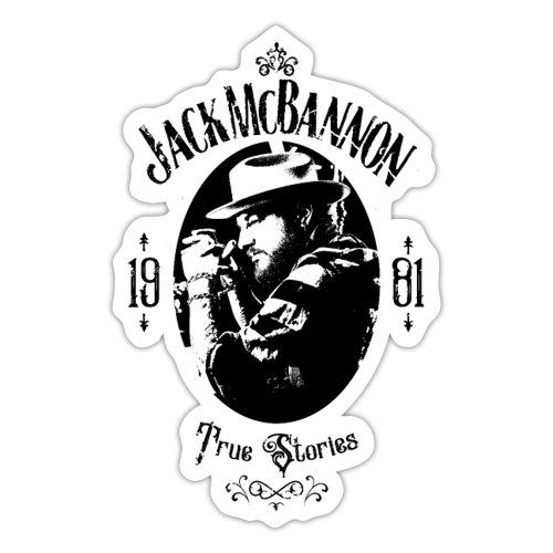 Jack McBannon - True Stories Portrait - Sticker