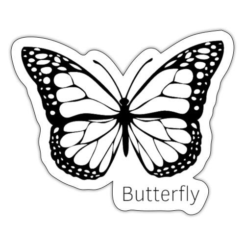 Butterfly white - Klistermärke