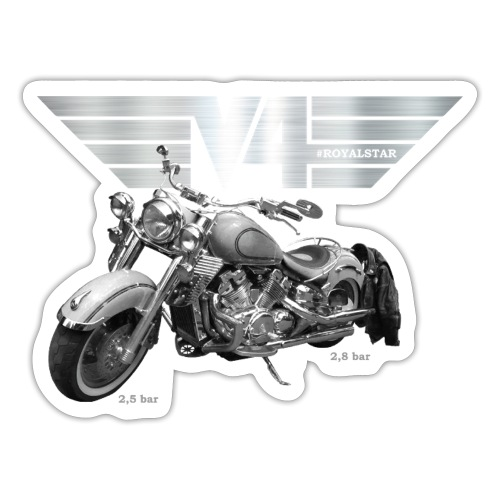 Royal Star silver Wings - Sticker