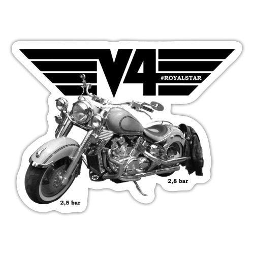 V4 Motorcycles black Wings - Sticker