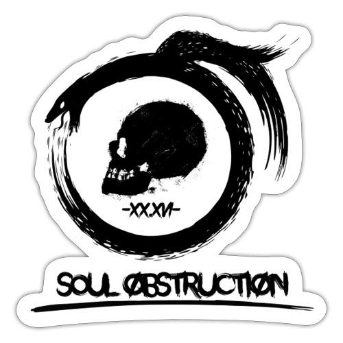Soul Obstruction Black - Klistermärke