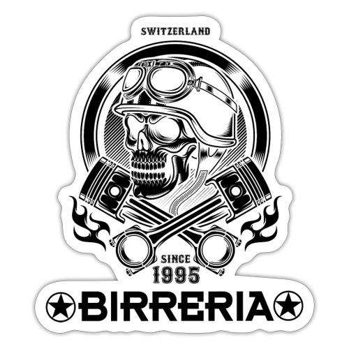 Biker Skull Piston - Sticker