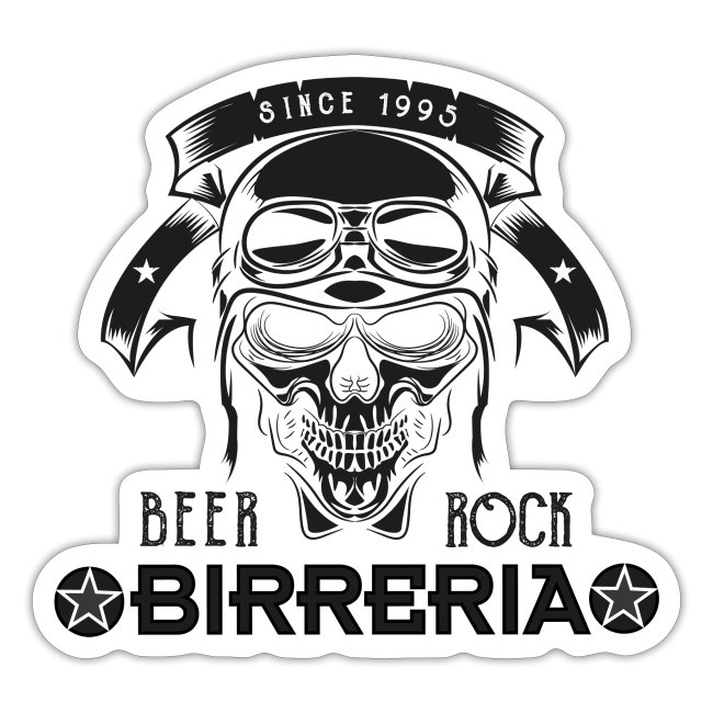 Classic Birreria Rock Skull
