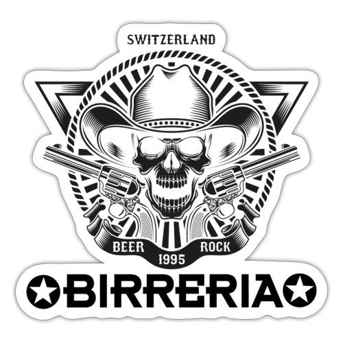Sheriff Skull with Revolver - Sticker