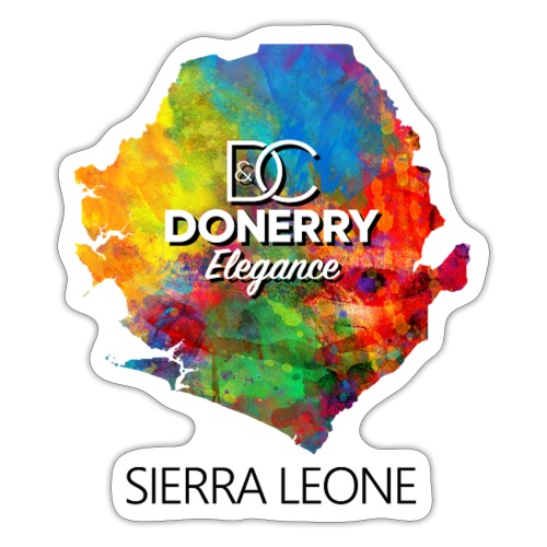 Sierra Leone Colurful Map - Sticker