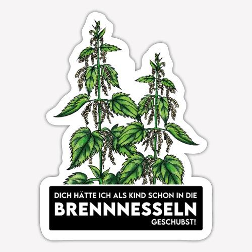 Brennnessel Schubsen - Sticker