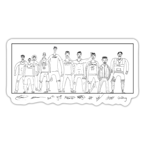 cldt drawn WHITE SHIRT - Sticker