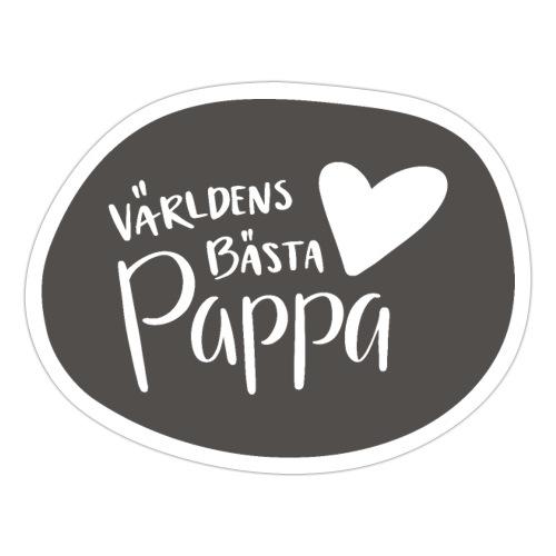Världens bästa Pappa - B&W - Klistermärke