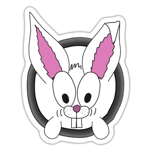 Das freundliche Kannchen nebenan white rabbit - Sticker