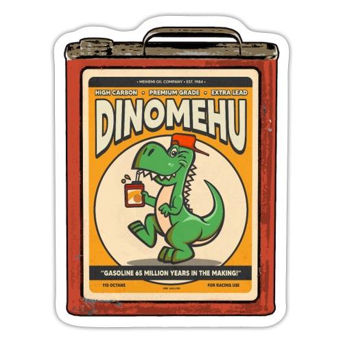 Dinomehu -kanisteri - Tarra