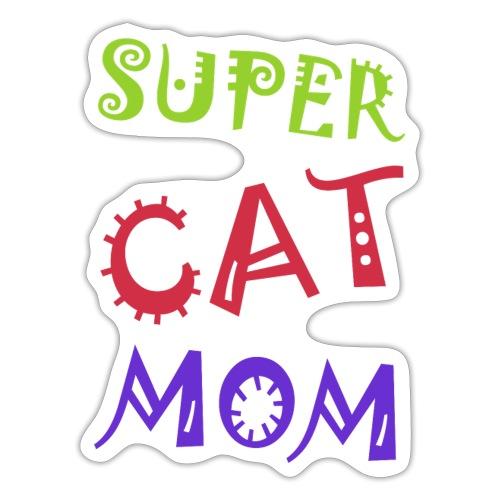 Super cat mom - Sticker