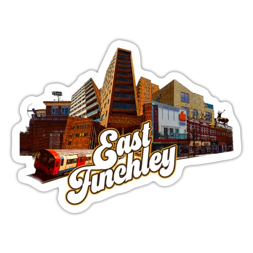 East Finchley Retro Montage - Sticker
