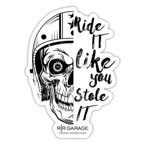 Skull Rider RR Garage - Adesivo