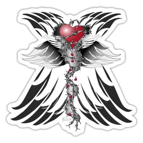 Barbwired Heart - Herz in Stacheldraht - Sticker