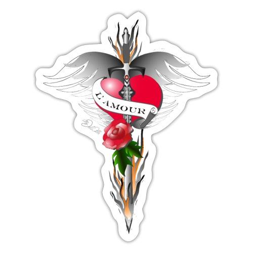 L' Amour - Die Liebe in Flammen - Sticker